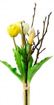 42 cm Kunstpflanze Blumenstrauß Tulpen rot 5 Stück von Formano